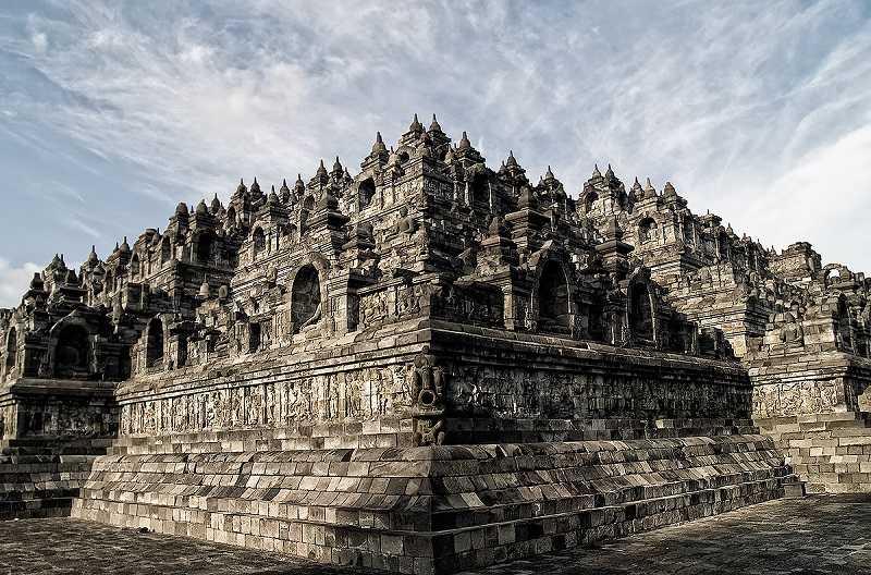 храмовый комплекс Борободур,достопримечательности индонезии
