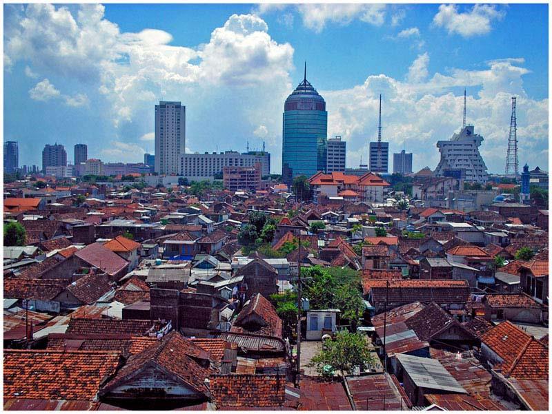 город Сурабая в индонезии