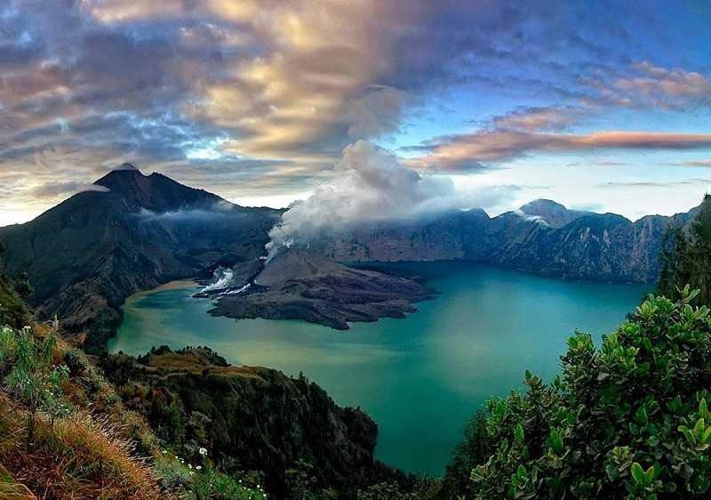 ломбок Гора-вулкан Ринджани