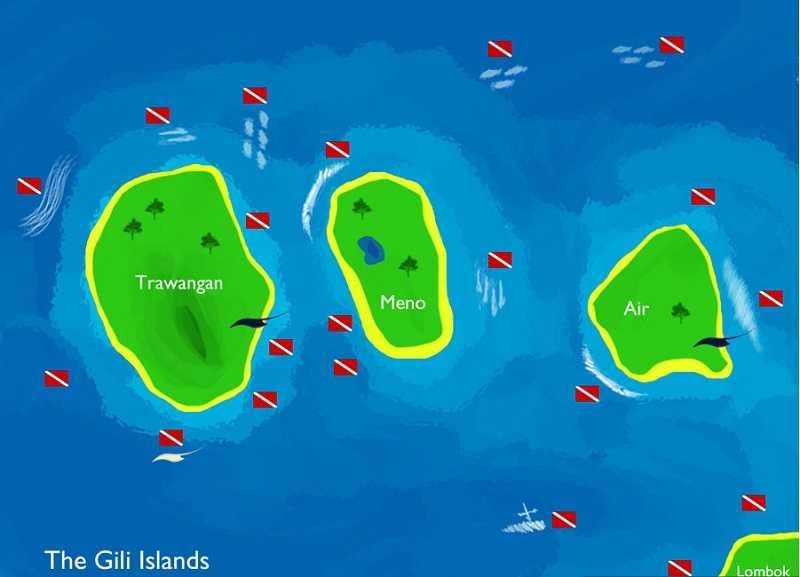 острова Гили, Индонезия