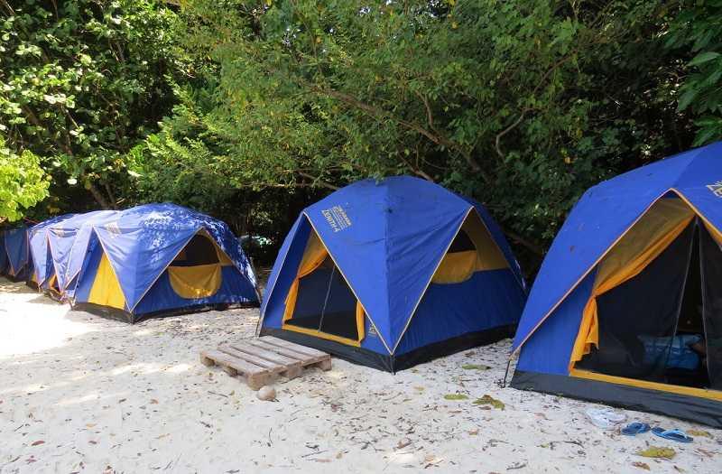 суринские острова,палаточный кемпинг