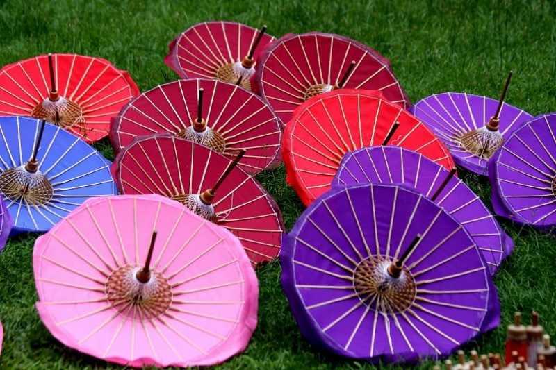 зонт из шелка