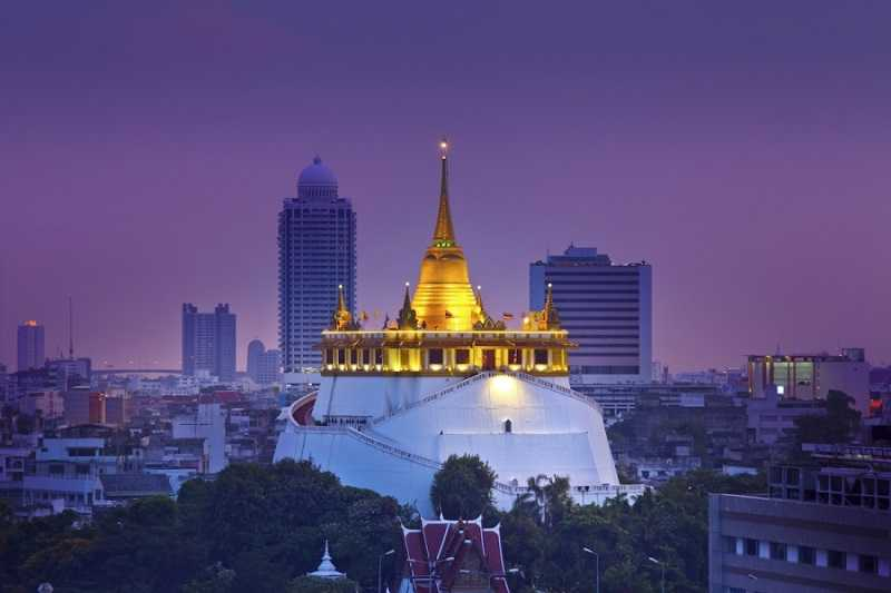 Бангкок Храм Золотой горы Ват Сакет