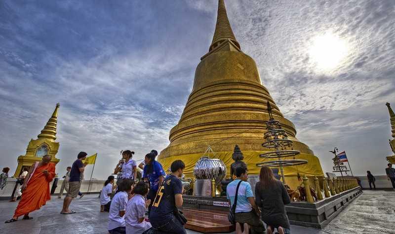 Бангкок Храм Золотой горы Ват Сакет1