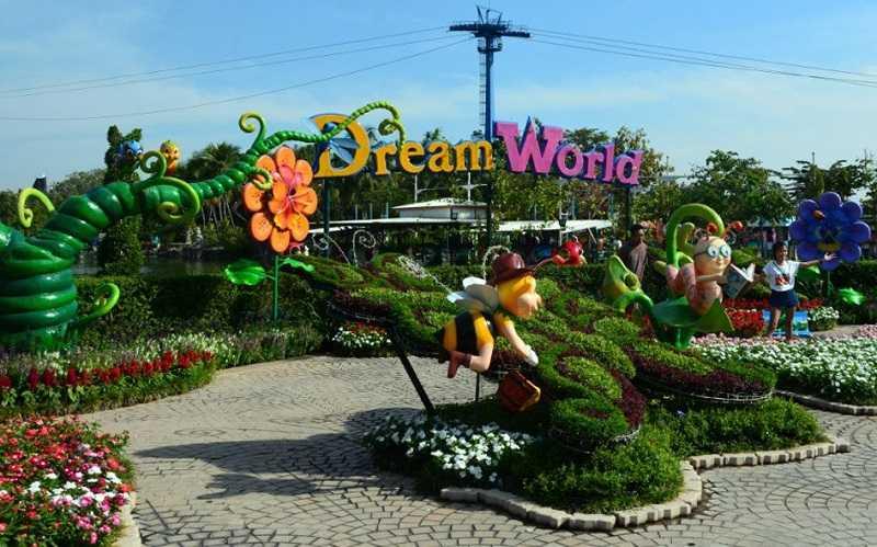 Бангкок парк развлечений Дрим Ворлд зона Сад мечты