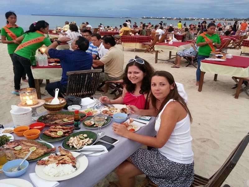 Джимбаран на Бали морепродукты