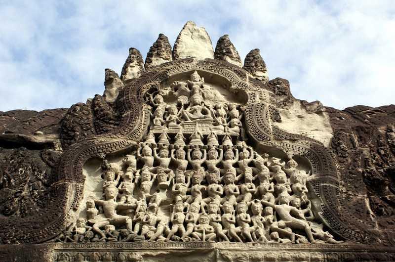 Камбоджа храмовый комплекс Ангкор Ват Галереи барельефов