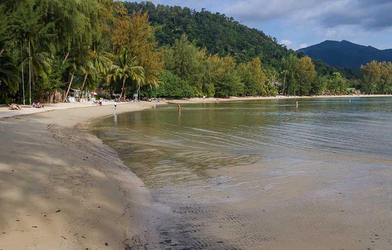 Ко Чанг пляж Чай Чет длина пляжа