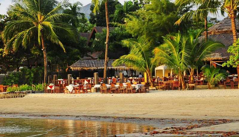 Ко Чанг пляж Клонг Прао ресторан