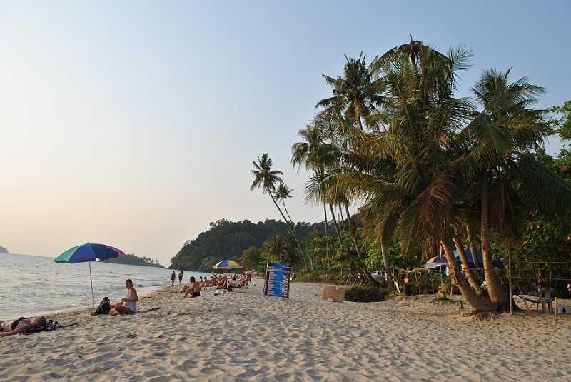 Ко Чанг пляж Лонли Бич северная часть