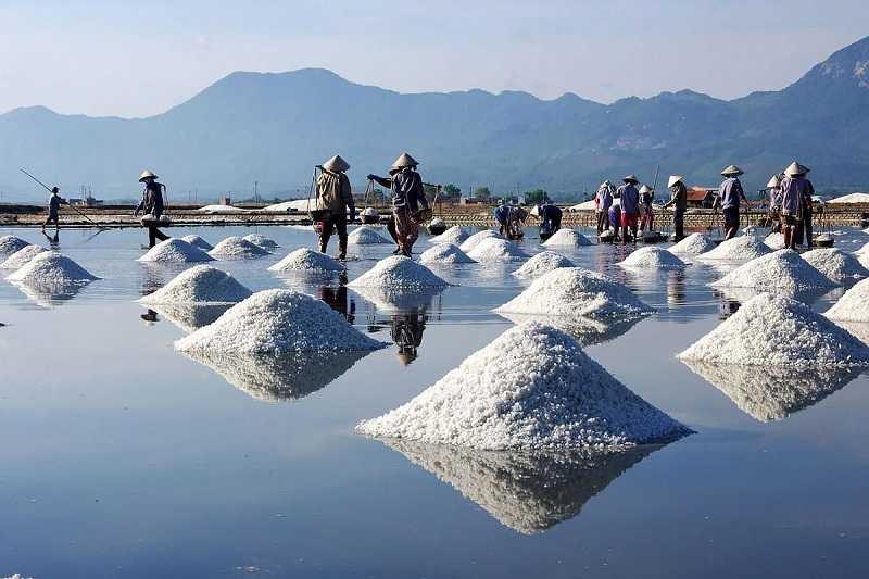 Нячанг поля с солью
