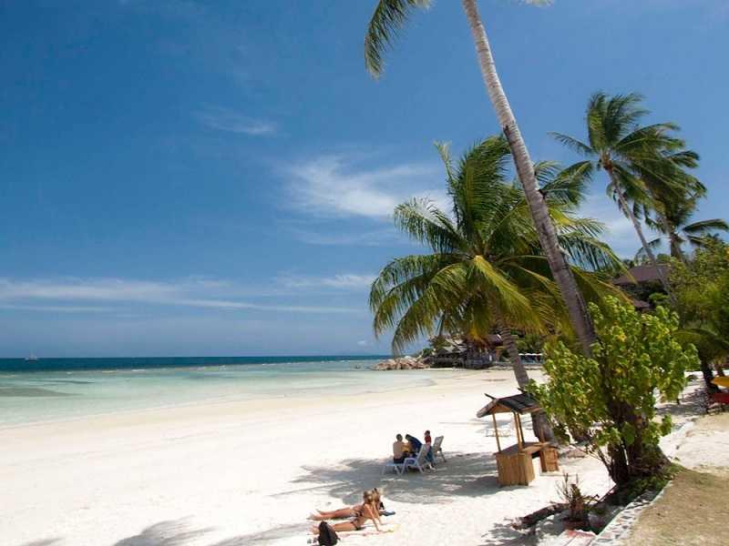 Панган пляж Чалоклам красивое место