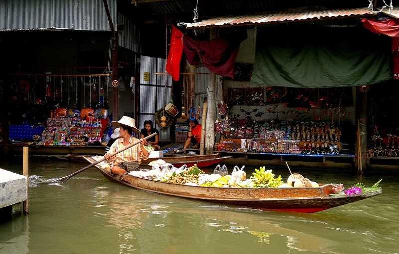 Паттайя плавучий рынок Floating Market