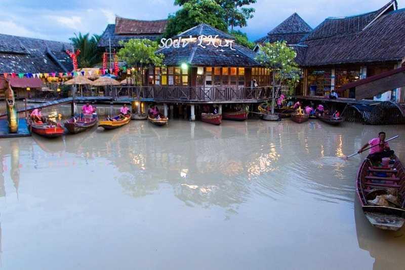 Паттайя плавучий рынок Floating