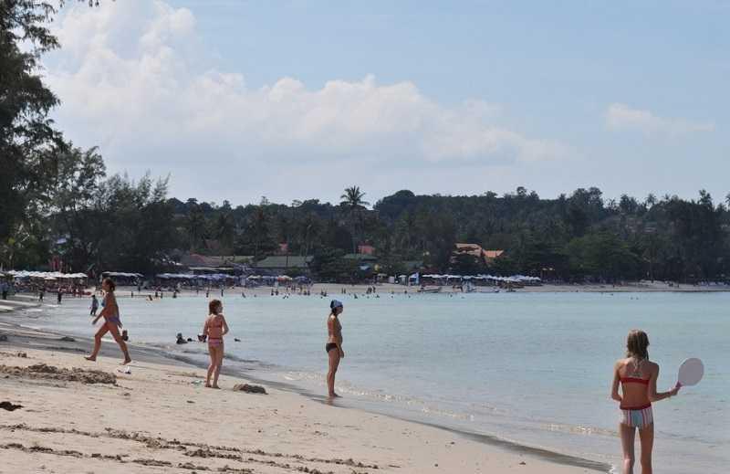 Пляж Чонг Мон Самуи песок