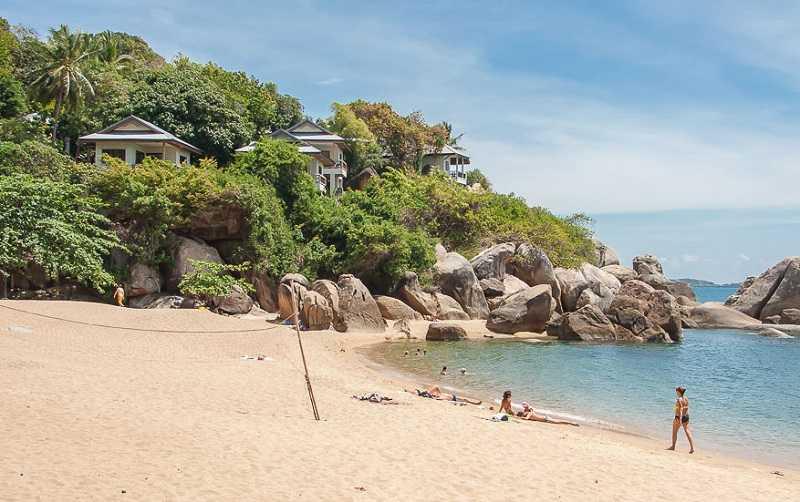 Самуи пляж Корал Ков тихое место