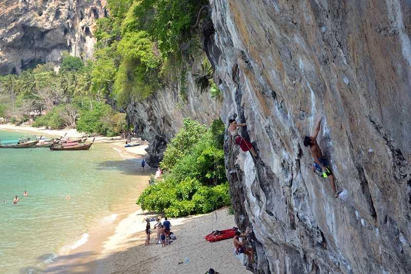 Пляж Тонсай Краби Тайланд скалолазание