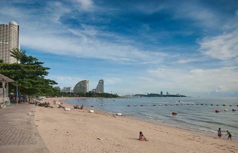 Пляж Вонгамат Паттайя северная часть