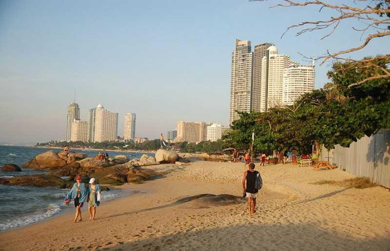 Пляж Вонгамат Паттайя южная часть