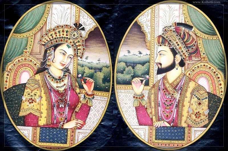 Шах Джахан с женой