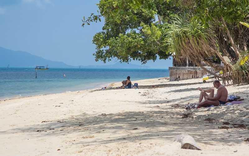 Самуи пляж Бан Тай мелкий песок