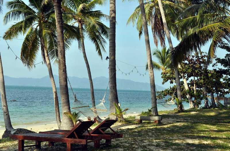Самуи пляж Бан Тай отдых на гамаке