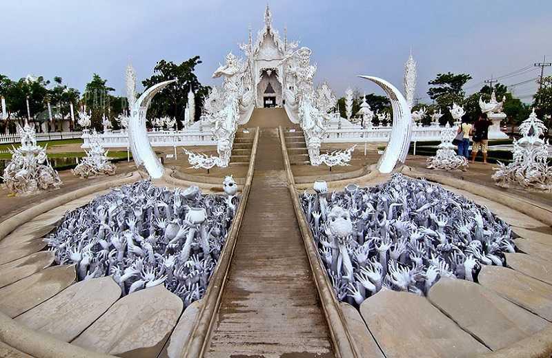 Тайланд Белый храм адская яма