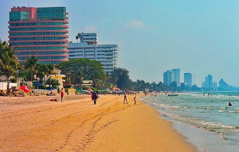 Тайланд Хуа Хин городской пляж