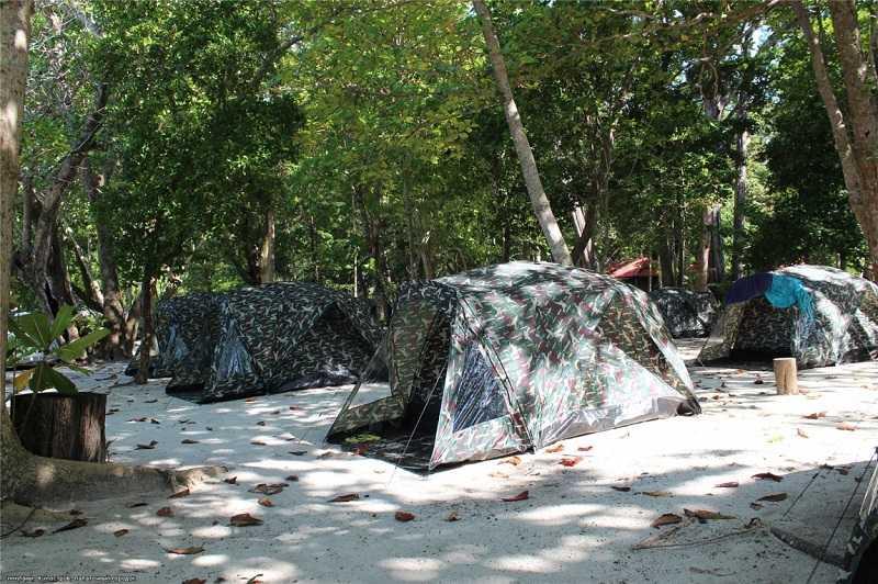 Вьетнам остров Хон Там палаточный городок