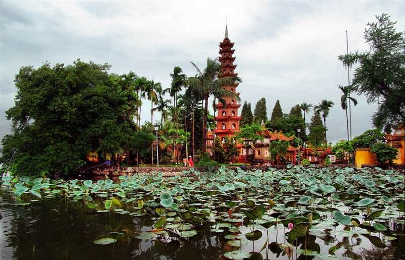 Вьетнам пагода Ханоя-Чанкуок