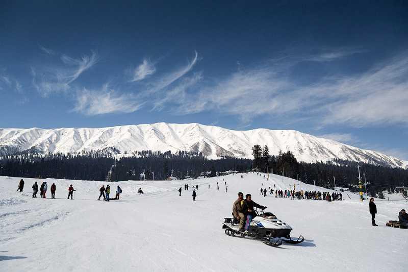 индия катание на лыжах