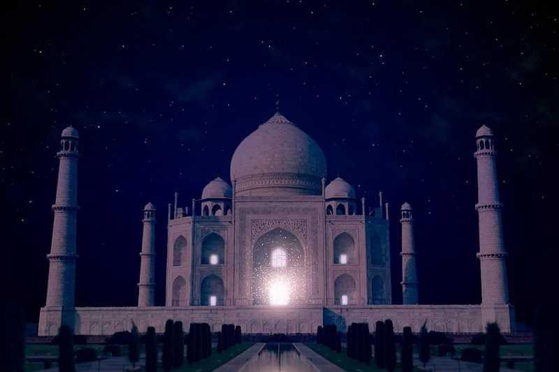 тадж-махал ночью индия